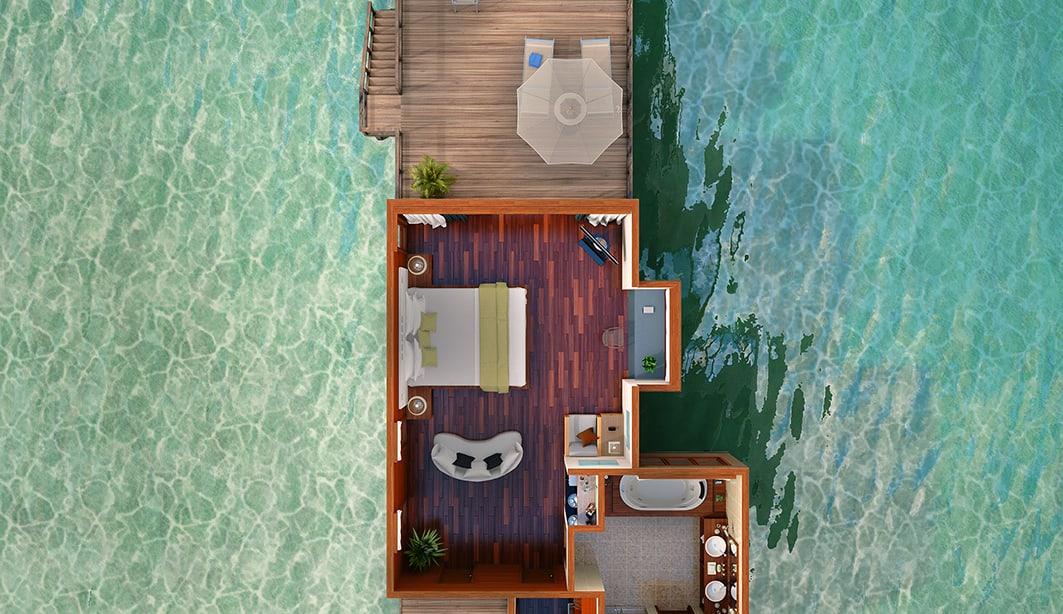 Hilton Diamond Upgrade and Benefits at Conrad Maldives Rangali Island Resort in Maldives