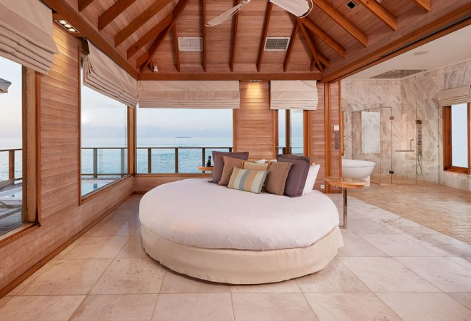 Sunset Water Villa bedroom