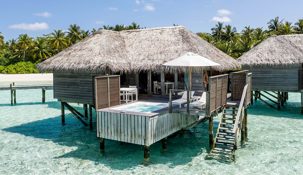 Image of overwater bungalow in Maldives