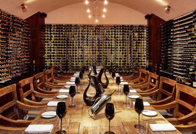 Views of the wine cellar